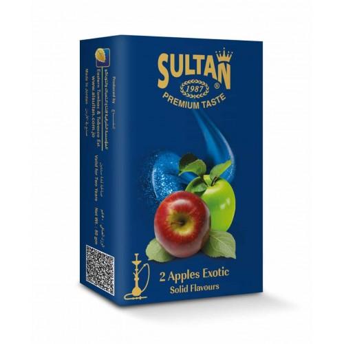 Табак Sultan 2 Apples Exotic (Экзотическое Двойное Яблоко) - 50 грамм