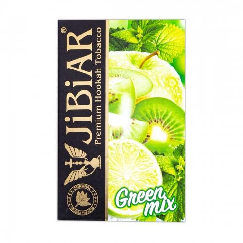 Табак Jibiar Green Mix ( Яблоко Лайм Киви Мята) - 50 грамм